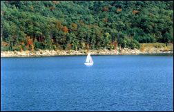 Sailboat at Cave Run Lake