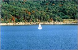 Sailboat at Cave Run Lake